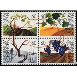 Liechtenstein 1994 Mi 1089-92 zd ** Natura Winogrona Ssaki
