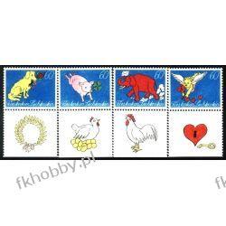 Liechtenstein 1994 Mi 1085-88 ** Amorek Słoń  Pies Ssaki