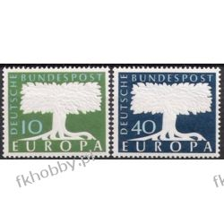 Niemcy NRF 1957 Mi 268-69 ** Europa Cept Drzewo Pozostałe