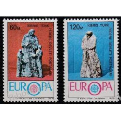 Cypr Tu 1976 Mi 27-28 ** Europa Cept Sztuka Sport
