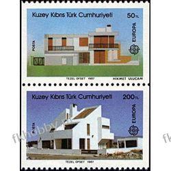 Cypr Tu 1987 Mi 205-06 C ** Europa Cept Architektura Pozostałe