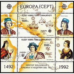 Cypr Tu 1992 Mi BL 10 ** Europa Cept Kolumb Statek Polskie