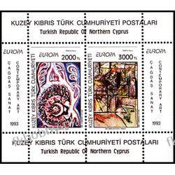 Cypr Tu 1993 Mi BL 12 ** Europa Cept Malarstwo Sport