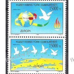 Cypr Tu 1995 Mi 395-96 ** Europa Cept Gołab Ptaki