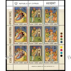 Cypr Gr 1991 Mi ark 780-82 ** Boże Narodzenie Ikony Pozostałe