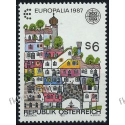 Austria 1987 Mi 1876 ** Europa Cept Architektura Filatelistyka