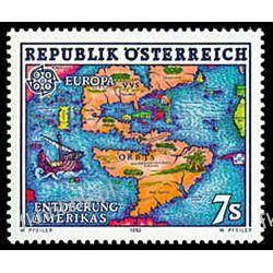Austria 1992 Mi 2062 ** Europa Cept Ameryka Mapa Filatelistyka