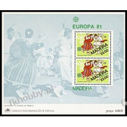 Portugalia Ma 1981 Mi BL 2 ** Europa Cept Folklor Taniec Filatelistyka
