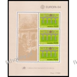 Portugalia Ma 1984 Mi BL 5 ** Europa Cept Most Filatelistyka