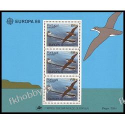 Portugalia Ma 1986 Mi BL 7 ** Europa Cept Statek Ptaki Filatelistyka