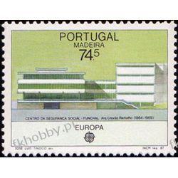 Portugalia Ma 1987 Mi 115 ** Europa Cept Architektura Filatelistyka