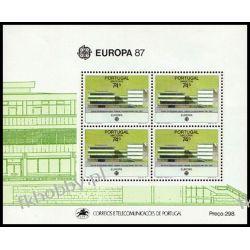 Portugalia Ma 1987 Mi BL 8 ** Europa Cept Architektura Filatelistyka