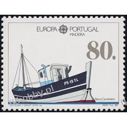 Portugalia Ma 1988 Mi 118 a ** Europa Cept Statek Filatelistyka
