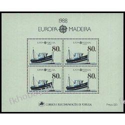 Portugalia Ma 1988 Mi BL 9 ** Europa Cept Statek Filatelistyka