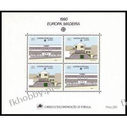 Portugalia Ma 1990 Mi BL 11 ** Europa Cept Architektura Filatelistyka