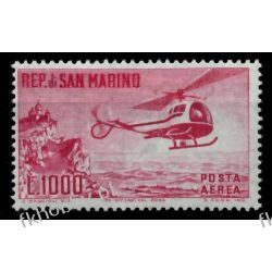 San Marino 1961 Mi 696 ** Lotnictwo Helikopter Lotnictwo