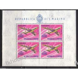 San Marino 1964 Mi ark 801 ** Lotnictwo Samolot Malarstwo