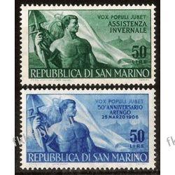 San Marino 1956 Mi 545-46 ** Praca po 1945