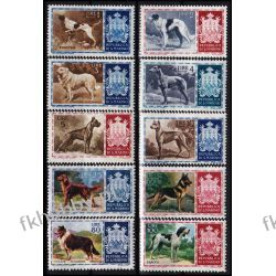 San Marino 1956 Mi 547-56 ** Rasy Psów Pies Kolekcje