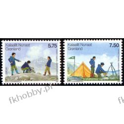Grenlandia 2007 Mi 480-81 ** Europa Cept Harcerstwo Harcerstwo i Skauting