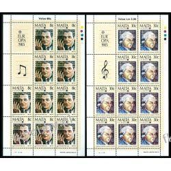Malta 1985 Mi ark 726-27 ** Europa Cept Muzyka Kolekcje