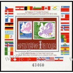 Bułgaria 1982 Mi BL 126 ** Europa Cept Gołąb Mapa Ssaki