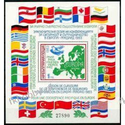 Bułgaria 1983 Mi BL 137 ** Europa Cept Gołąb Mapa Pozostałe