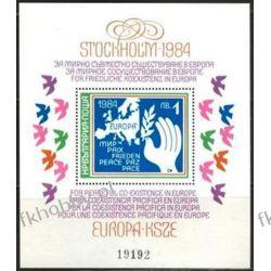 Bułgaria 1984 Mi BL 139 ** Europa Cept Gołąb Mapa Filatelistyka