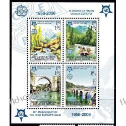 BiH Serbia 2005 Mi BL 13 A ** Europa Cept Natura Góry Most Filatelistyka