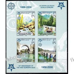 BiH Serbia 2005 Mi BL 13 B ** Europa Cept Natura Góry Most Filatelistyka