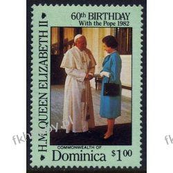 Dominika 1986 Mi 965 ** Jan Paweł II Elżbieta Tematyczne