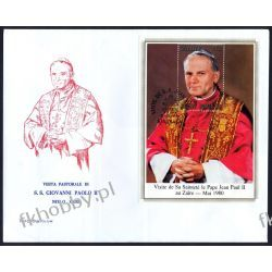 Zair 1980 FDC BL 35 Jan Paweł II Papież Pozostałe