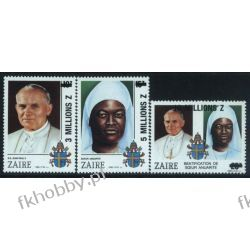 Zair 1993 Mi 1075-77 ** Jan Paweł II Papież Pozostałe