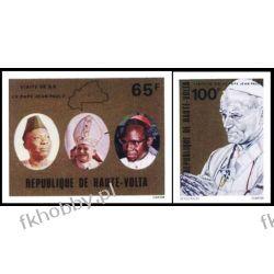 Górna Wolta 1980 Mi 782-83 B ** Jan Paweł II Papież Kolekcje