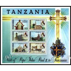 Tanzania 1990 BL 121 ** Jan Paweł II Papież Kolekcje