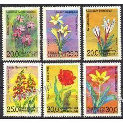 Uzbekistan 1993 Mi 35-40 ** Kwiaty Kolekcje