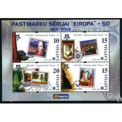 Łotwa 2006 Mi BL 21 ** Europa Cept Znaczek Kolejnictwo