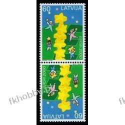 Łotwa 2000 Mi 519 x2 ** Europa Cept Dzieci Sport