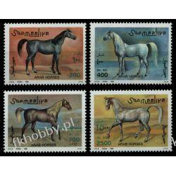 Somalia 1996 Mi 588-91 ** Konie Ssaki