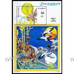 Somalia 1999 Mi BL 58 ** Myśliwy Ptaki Pantera Ssaki