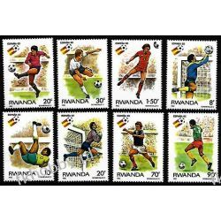 Rwanda 1982 Mi 1179-86 ** Piłka Nożna Sport Pozostałe