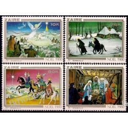Zair 1980 Mi 703-06 ** Boże Narodzenie Anioł Koń Pozostałe