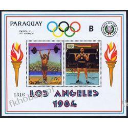 Paragwaj 1983 Mi BL 388 ** Olimpiada Los Angeles Pozostałe