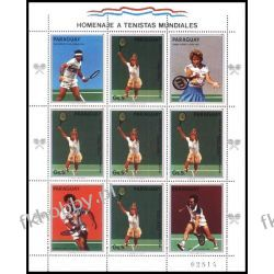 Paragwaj 1986 Mi ark 4035 ** Tenis Sport Owady