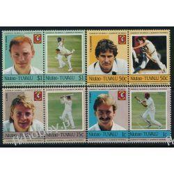 Tuvalu Niutao 1985 Mi 21-28 ** Sport Krykiet Sport
