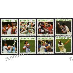 Saint Vincent 1988 Mi 1120-27 ** Krykiet Sport Sport