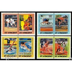 Saint Vincent 1984 Mi 748-55 ** Olimpiada Los Angeles Sport