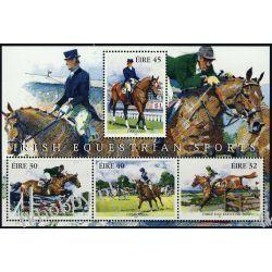 Irlandia 1998 Mi BL 27 ** Koń Konie Sport Ssaki
