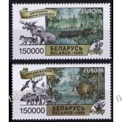 Białoruś 1999 Mi 316-17 ** Europa Cept Żubr Łoś Bóbr Ssaki