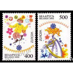 Białoruś 2002 Mi 447-48 ** Europa Cept Cyrk Koń Ssaki